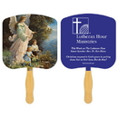 Custom FR102-1 - Religious Guardian Angel Spot Color Fan, 7 3/4
