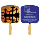 Custom FR103-1 - Religious Crosses at Sunset Fan with One Spot Color, 7 3./4