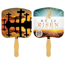Custom FR103-4 - Religious Crosses at Sunset Four Color Process Fan, 7 3/4