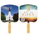 Custom FR104-4 - Religious Church Fan with Four Color Process, 7 3/4