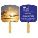 Custom FR109-1 - Religious Sunrise Spot Color Fan, 7 3/4