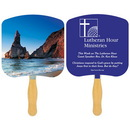 Custom FR110-1 - Religious Shoreline at Daytime Spot Color Fan, 7 3/4