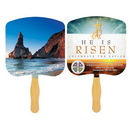Custom FR110-4 - Religious Shoreline at Daytime Four Color Process Fan, 7 3/4