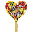 Custom FW110-4 - Heart Sandwiched Hand Fan with Four Color Process, 7 7/8