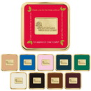 Custom 25037 Brass Square Coaster, Brass-Plated Zinc, Leather and Cork