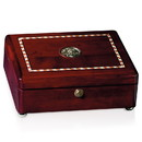 Custom 36282 Rosewood Inlaid Rectangular Box, Rosewood