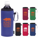 Koozie Custom 45067 Collapsible Bottle Kooler, Polyester with Foam Backing, Aluminum