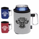 Koozie Custom 45822 Collapsible Can Kooler with Carabiner, Polyester with Foam Backing, Aluminum