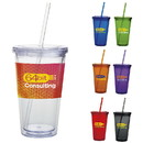Custom 45856 Double Wall Acrylic Tumbler - 18 Oz., AS (Acrylonitrile Styrene) Plastic