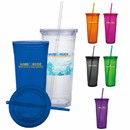 Custom 45857 Double Wall Acrylic Tumbler - 24 Oz., Plastic