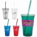 Custom 45908 Double Wall Translucent Tumbler - 18 Oz., PP (Polypropylene) Plastic