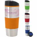 Custom 45926 Color Grip Tumbler - 18 Oz., Stainless Steel, PP (Polypropylene) Plastic