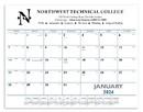 Triumph Custom 6503 Blue & Black Desk Pad Calendar, Offset