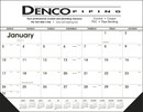Triumph Custom 6506 Black & White Desk Pad with Vinyl Corners Calendar, Offset