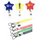 Custom Star Shape Retractable Badge Holder with Lanyard, 2
