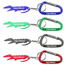 Custom Alligator Shaped Bottle Opener Keychain with Carabiner, 3 3/32