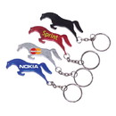 Custom Horse Shape Bottle Opener Keychain, 2 3/8