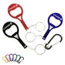 Custom Tennis Racket Shape Bottle Opener Key Chain, 3 1/8