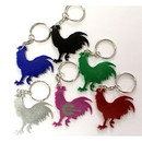 Custom Rooster Shape Bottle Opener Key Chain, 2