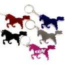 Custom Horse Shape Bottle Opener Key Chain, 2 1/2
