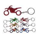 Custom Motorbike Shape Bottle Opener Keychain, 2 1/2