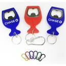 Custom Wine Cup Shape Bottle Opener Key Chain, 1 13/18
