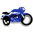 Custom Jumbo Size Motorcycle Shape Magnetic Bottle Opener, 4 1/4