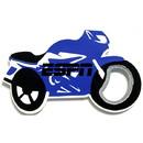 Custom Jumbo Size Motorcycle Shape Magnetic Bottle Opener, 4 1/4