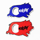 Custom Jumbo Size Pig Shape Magnetic Bottle Opener, 3 5/8