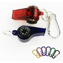 Custom Whistle with Compass Thermometer Key Chain, 2 1/4