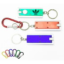 Custom Slim Rectangular Flashlight Swivel Keychain, 2 3/8