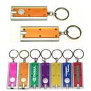 Custom Slim Rectangular Flashlight Swivel Keychain, 2 3/8