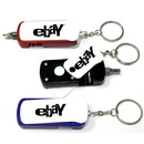 Custom Flashlight Screwdrive Tool Set Keychain, 2 3/4