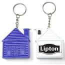 Custom House Shape Tape Measure Key Chain, 1 3/4