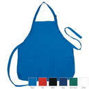 Blank APN1243 Poly-Cotton Apron with 3 Pockets, 7 oz. Poly-Cotton
