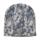 Blank Nissun Cap BENI.D 100% Acrylic Digital Pixel Camouflage Beanie - Gray