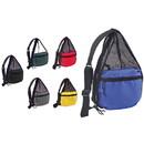 Custom Nissun Cap BP1113 Mesh Backpack, 600D Polyester w/ Nylon Mesh - Screen Print