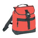 Blank BP1121 Reflector Backpack with Leather-Like Bottom, 600D Polyester