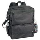 Custom BP2119 Black Foldable Backpack, 70D Nylon w/ PU - Screen Print