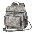 Custom BPC1171 Digital Camo Compu Backpack, 600D Polyester - Gray - Screen Print