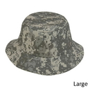 Custom CBKP-L Digital Gray Camo Large Pixel Camouflage Bucket Hat - Embroidery