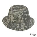 Custom CBKP-L Digital Gray Camo Large Pixel Camouflage Bucket Hat - Embroidery