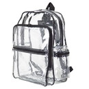 Blank CBP3131 Clear Backpack, Heavy Clear Vinyl/ 600D Polyester - Clear