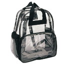 Blank CBP Clear Backpack, Heavy Clear Vinyl/ 600D Polyester - Clear