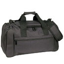 Custom DB1202 Black Deluxe Sports Bag, 600D Polyester w/ Heavy Vinyl Backing - Embroidery