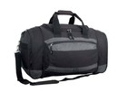 Custom DB1251 Black Deluxe Oversize Sports Bag, 600D Polyester / Rip-Stop Nylon - Embroidery