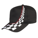 Custom ERC-5 Black 5-Panel Embroidered Racing Cap - Embroidery