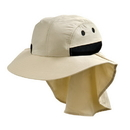 Custom GOLF Golf Hat, 100% Polyester - Beige/Black - Embroidery