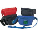 Blank NFNP Nylon Three Pocket Fanny Pack, 420D Nylon w/ PU Coating