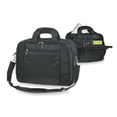 Custom PFC2173 Black Graduate Compu-Brief Case, 1680D Nylon w/ 420D Twill Nylon/PVC Backing - Embroidery